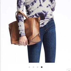 Soft leather cross body medium size tote bag !!